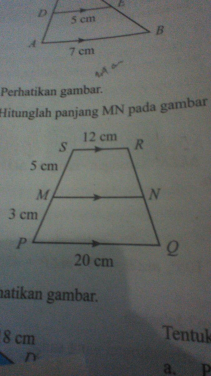 Hitunglah panjang MN pada gambar di bawah ini ! - Brainly ...