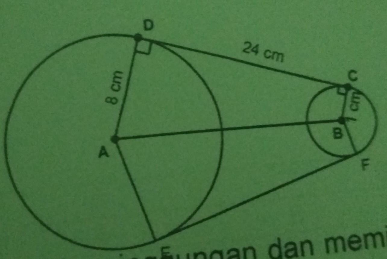 Perhatikan gambar di atas! Panjang AB adalah.. A. 25 cm B ...