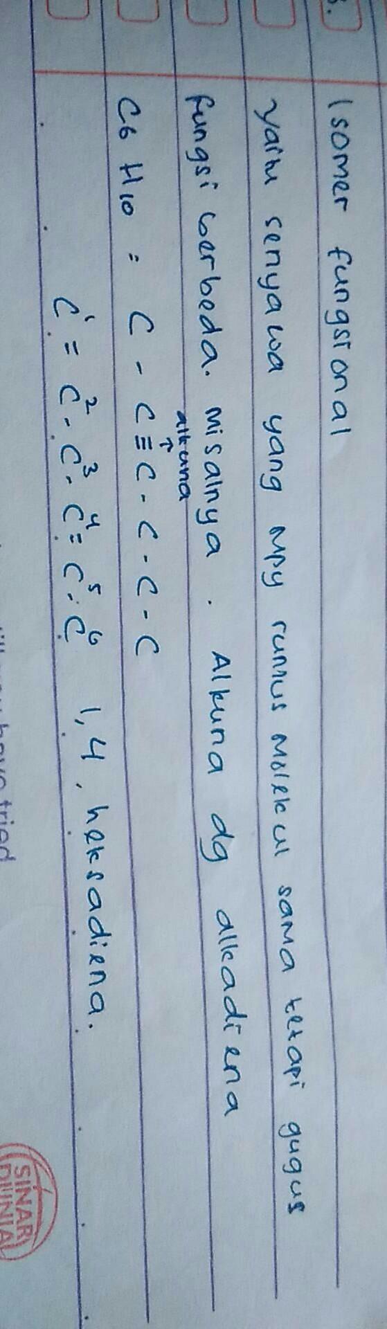 semua isomer dari C6H10 dan namanya - Brainly.co.id