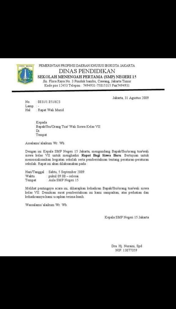 Contoh Surat Dinas Sekolah Smp Brainly Audit Kinerja