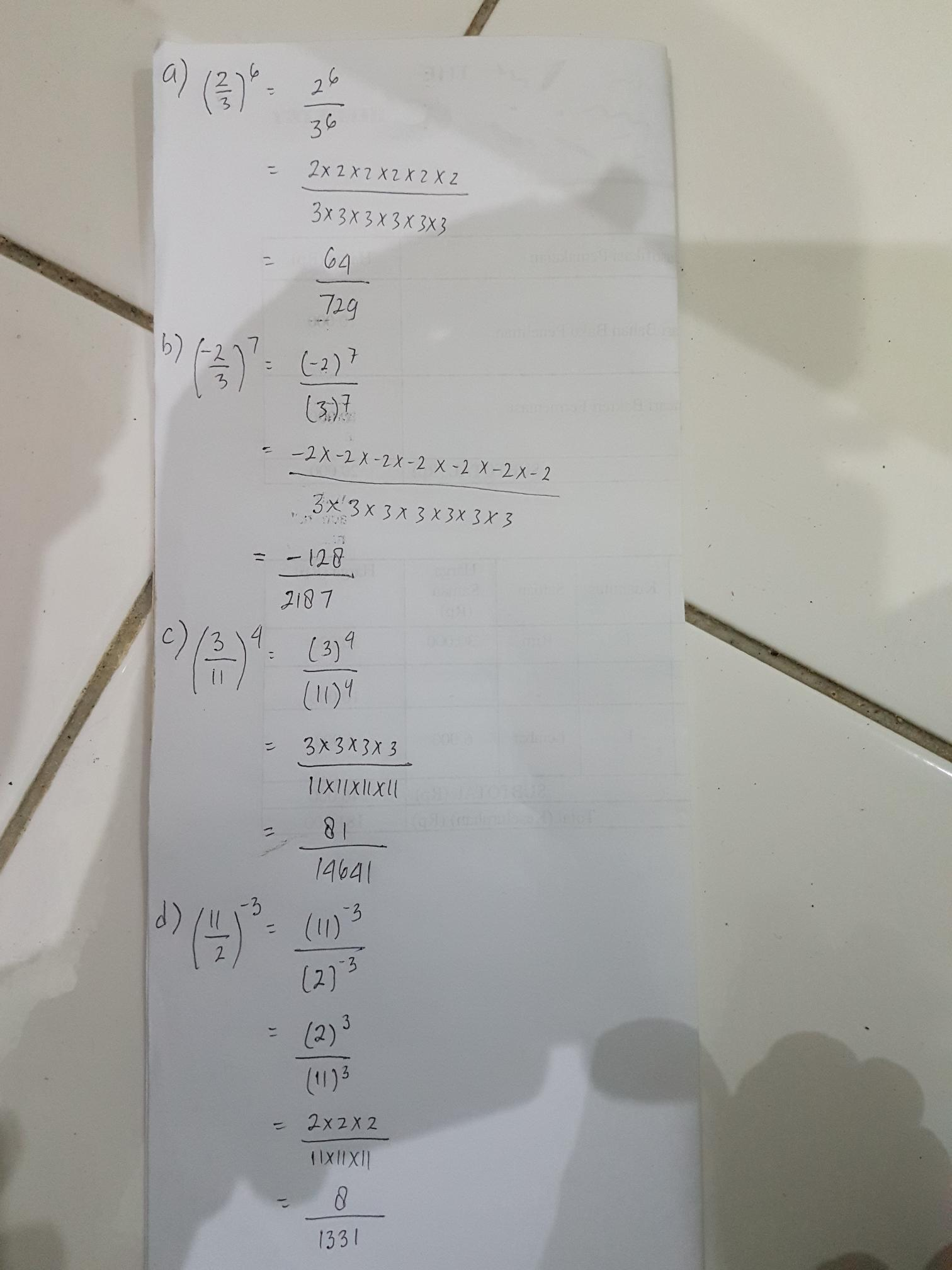 Uraikan Dan Hitunglah Masing Masing Bilangan Berpangkat Berikut A 2 3 Pangkat 6 B 2 3 Pangkat Brainly Co Id