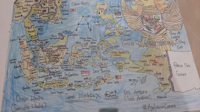Peta Utara Selatan Barat Timur