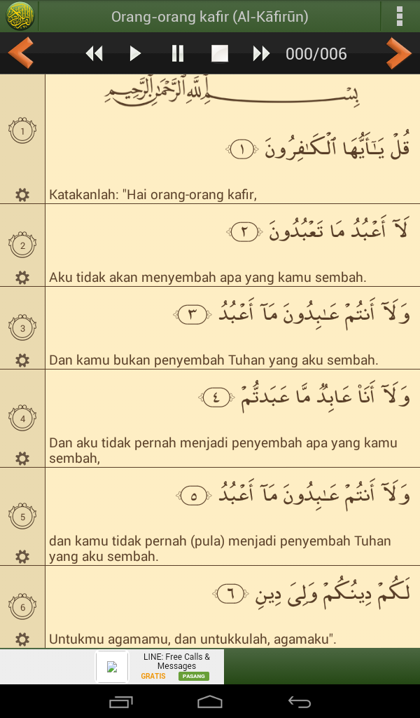 Tuliskan Qs Al Kafirun Ayat 1 6 Berikut Terjemahannya