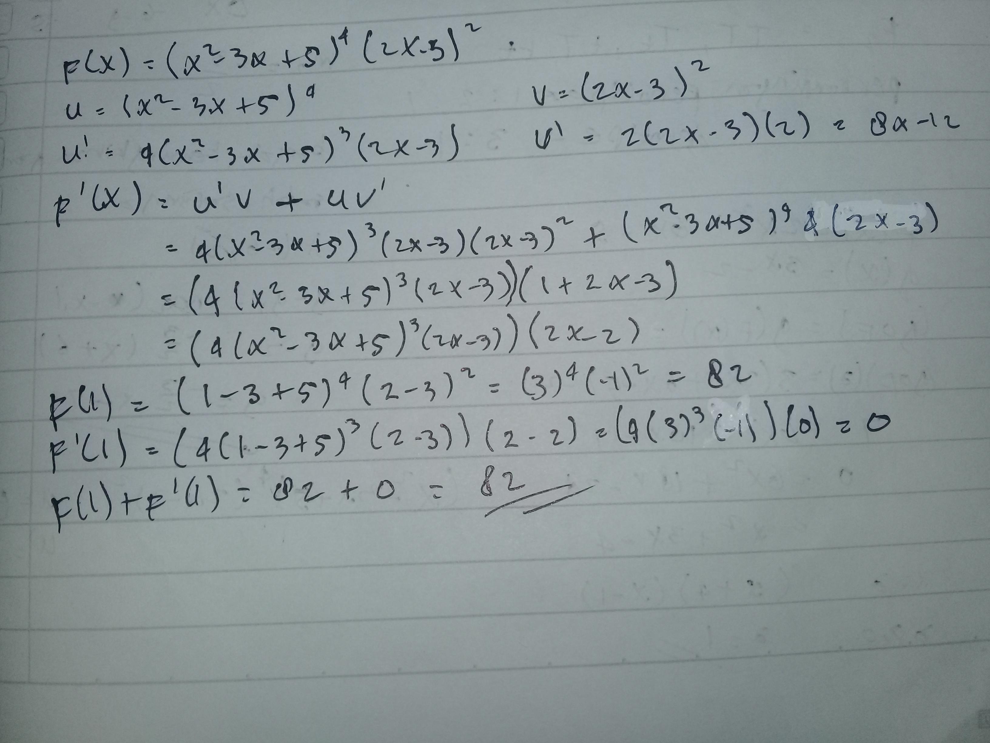 Diketahui F X X 2 3x 5 4 2x 3 2 Jika F X Turunan Pertama F X Nilai F 1 F 1 Brainly Co Id