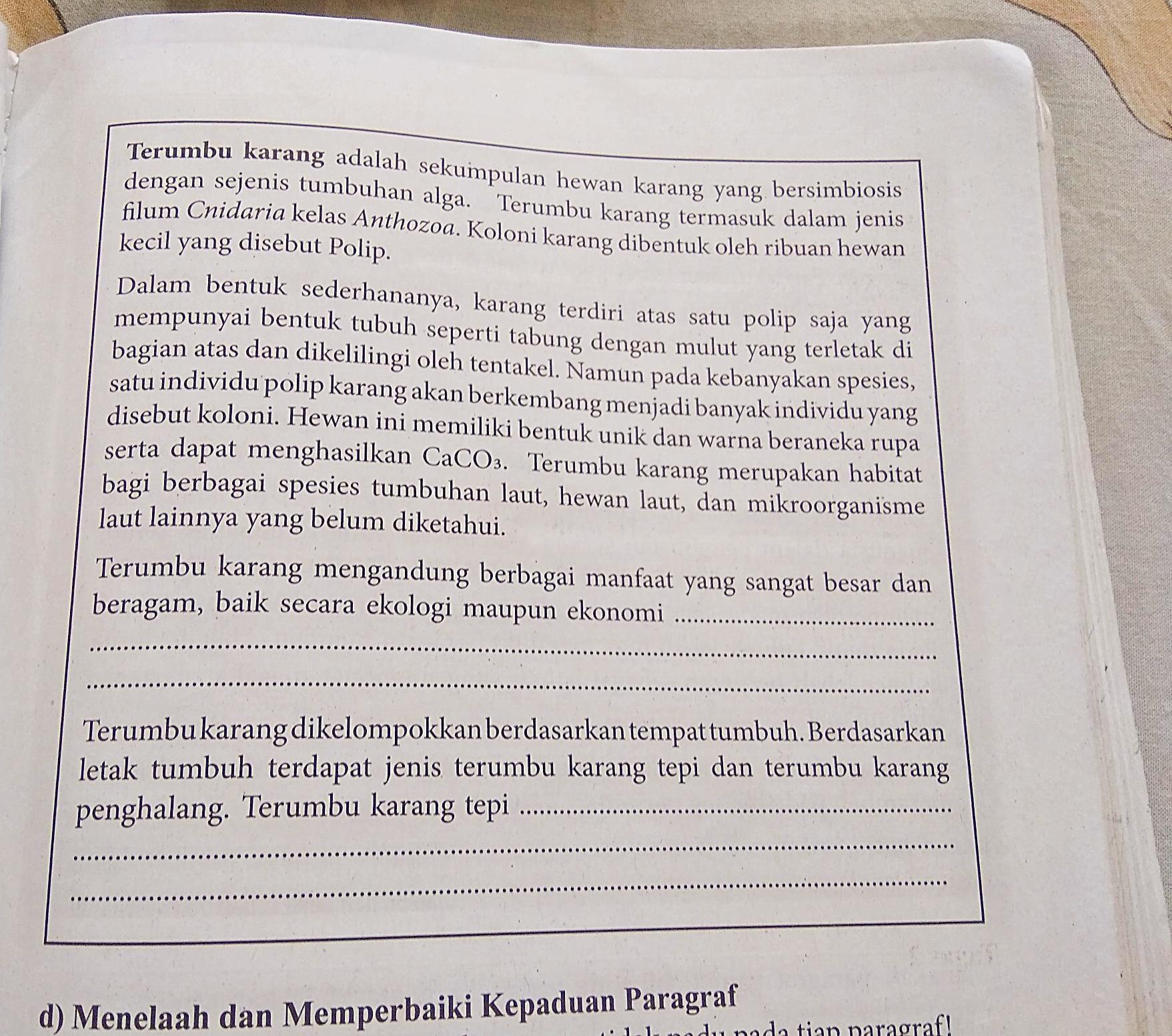 Tugas Bahasa Indonesia Kelas 7 Hal 149 Brainly Co Id
