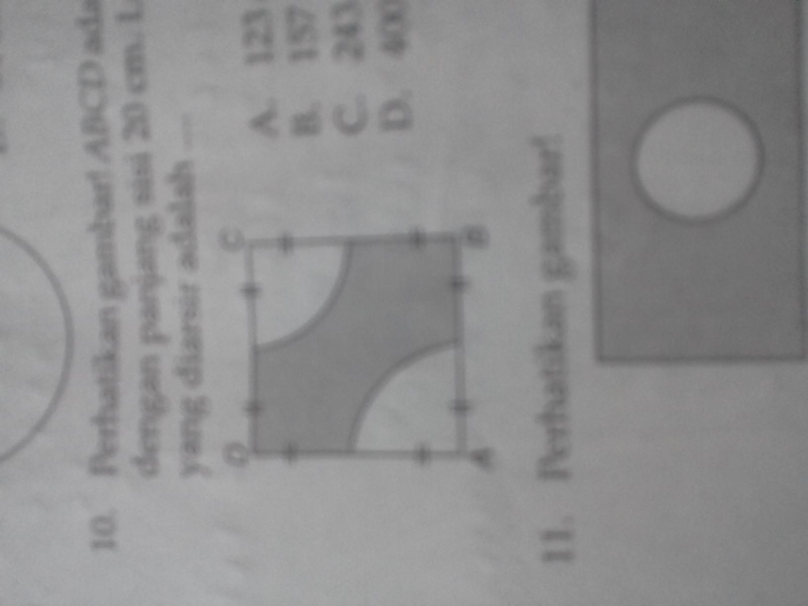 perhatikan gambar ABCD adalah persegi dengan panjang sisi ...