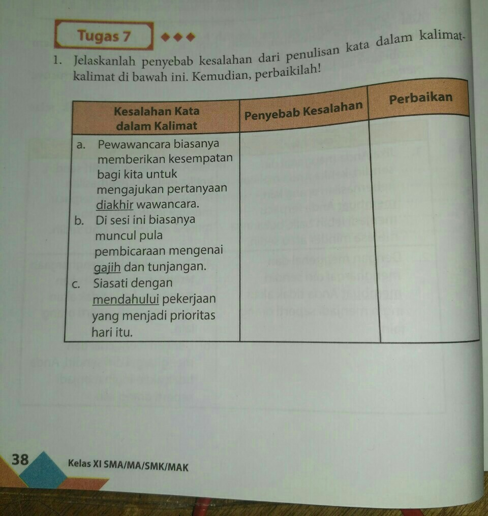 Tolong Dijawab Yaatugas 7 Halaman 38 Terima Kasih Brainly Co Id