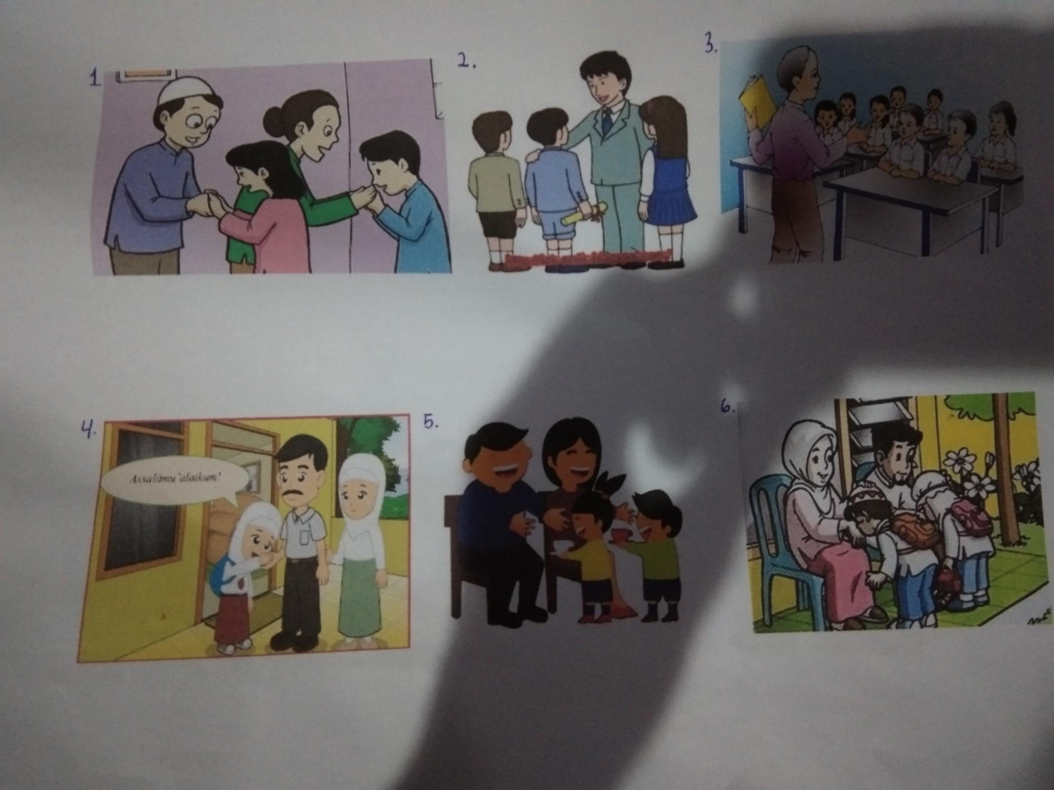 Tuliskan Keterangan Dalam Satu Gambar Empati Menghormati Orang Tua