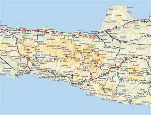 Carilah Peta Penemuan Fosil Indonesia Jawa Tengah Timur Berilah Warna