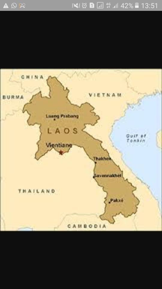 rupa bumi negara laos - Brainly.co.id