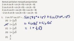 Contoh Soal Lengkap Tentang Persamaan Trigonometri Brainly Co Id