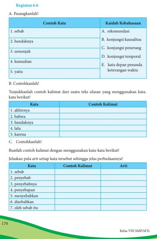 Jawaban Tugas Halaman 108 Buku Bahasa Indonesia