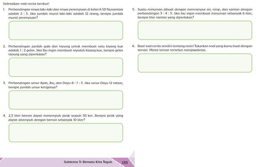 Kunci Jawaban Tema 2 Kelas 6 Halaman 135 Brainly Co Id