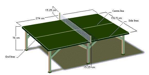 Gambar Lapangan Tenis Meja Dan Ukurannya Brainly Co Id