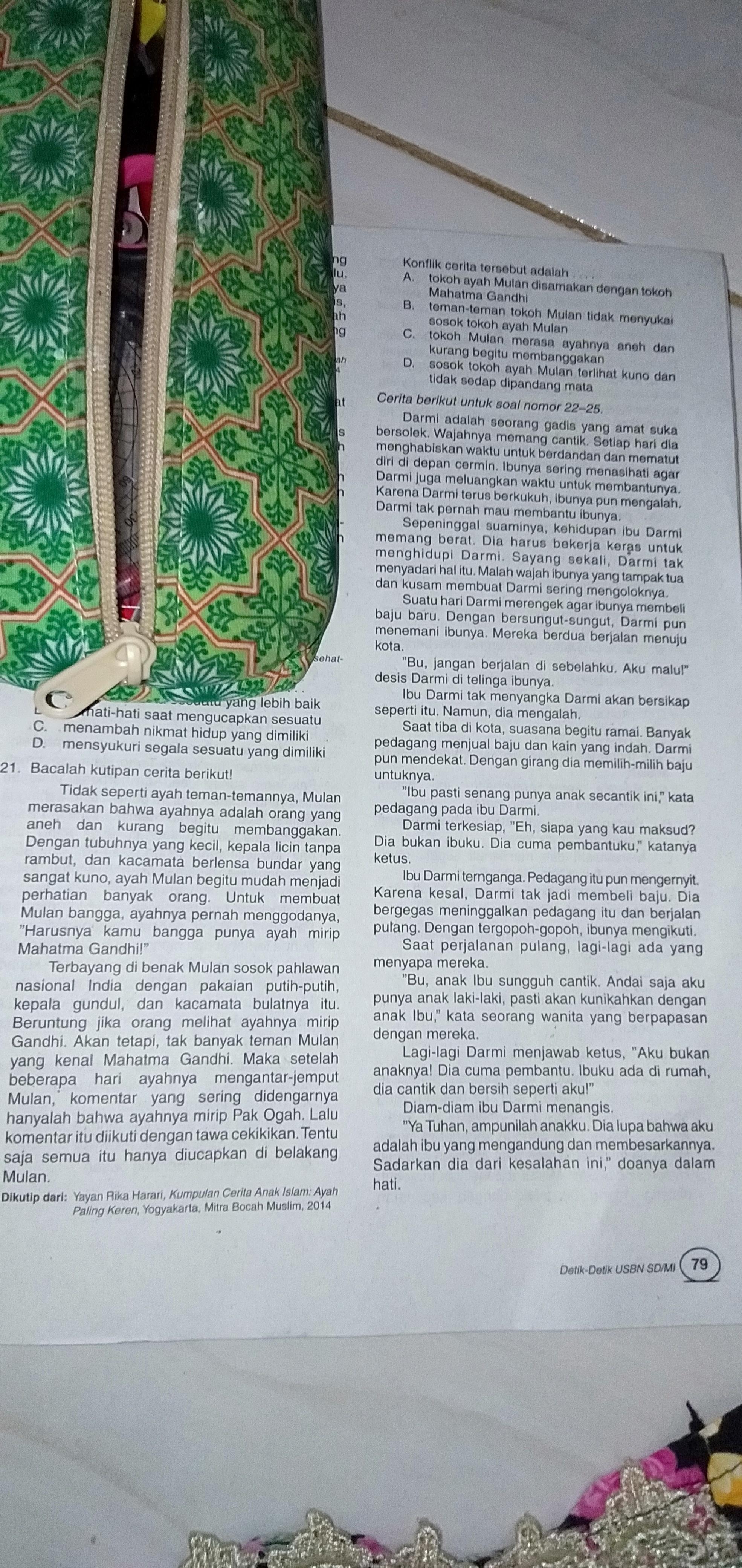 1 Tema Cerita Tersebut Adalah A Penyesalan Seorg Ibu B Durhaka Terhadap Ortu C Keksalan Brainly Co Id