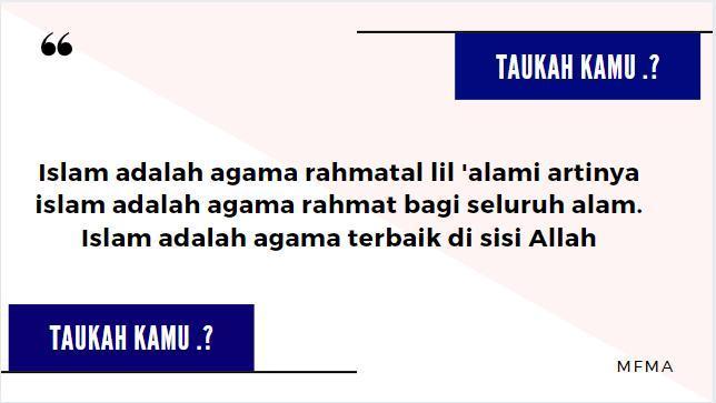 Sebutkan Dan Jelaskan Bentuk Bentuk Kerahmatan Islam Bagi Seluruh Alam Seluruh Mahluk Brainly Co Id
