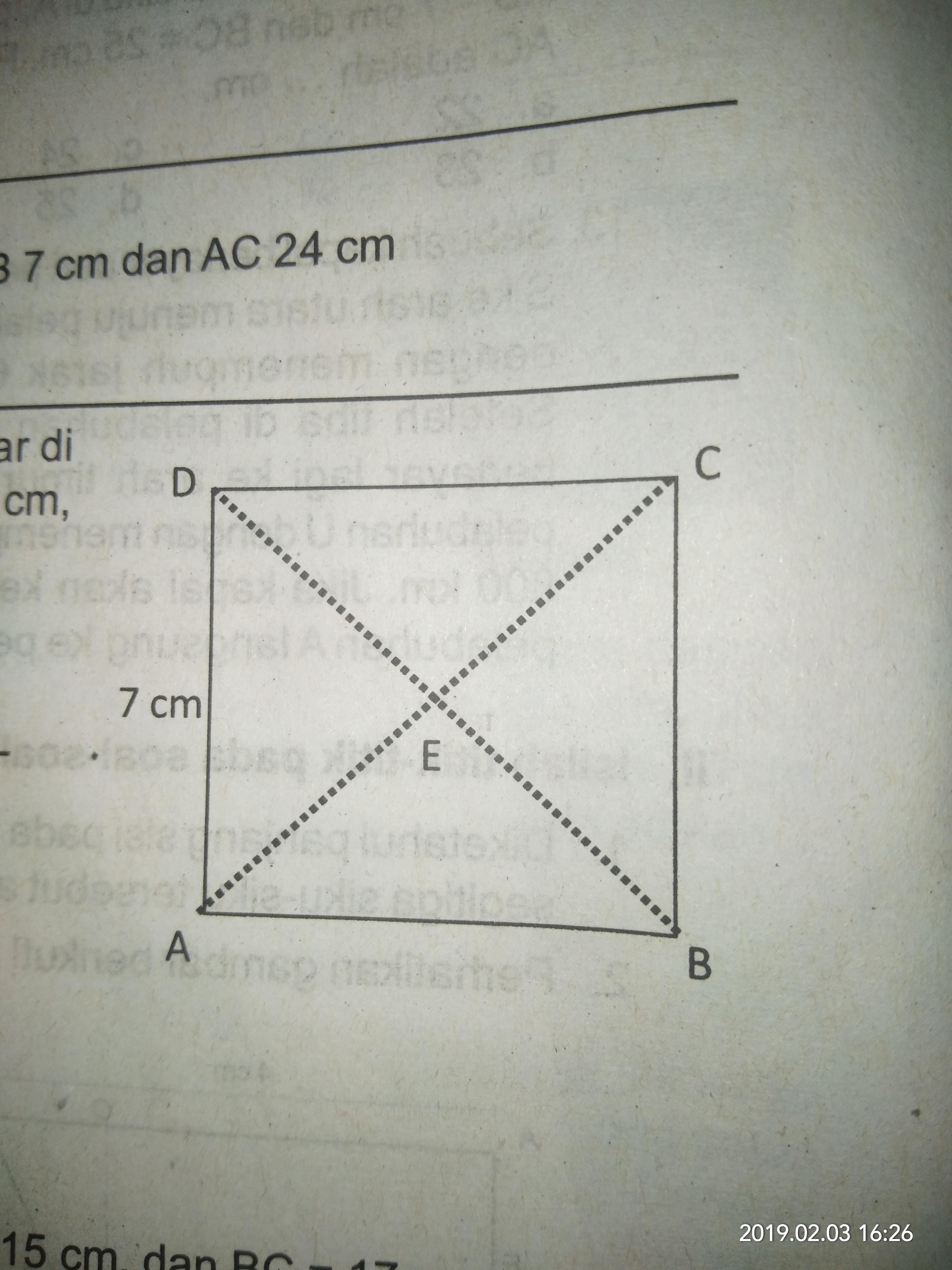 Perhatikan gambar Berikut! ABCD pada gambar di samping ...