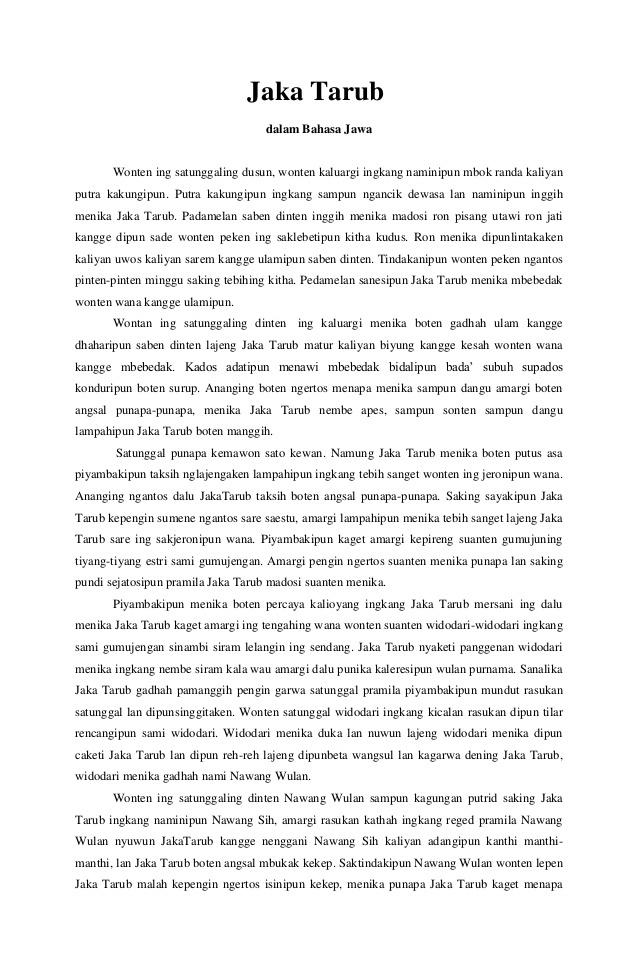 Contoh Sinopsis Novel Bahasa Jawa Dan Analisis Unsur2nya Brainly Co Id