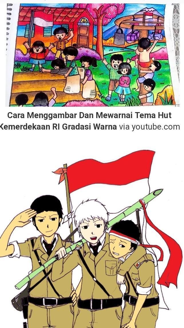 Gambar Ilustrasi Tema Kemerdekaan Indonesia Contoh Gambar Ilustrasi Adalahh Brainly Co Id