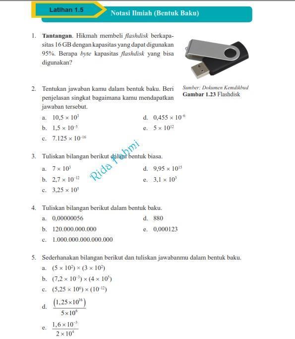Kunci Jawaban Matematika Kelas 9 Semester 1 Latihan 1 5 Hal 55 Brainly Co Id