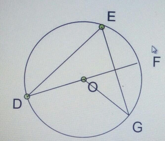 jika df adalah diameter lingkaran dengan titik pusat titik ...