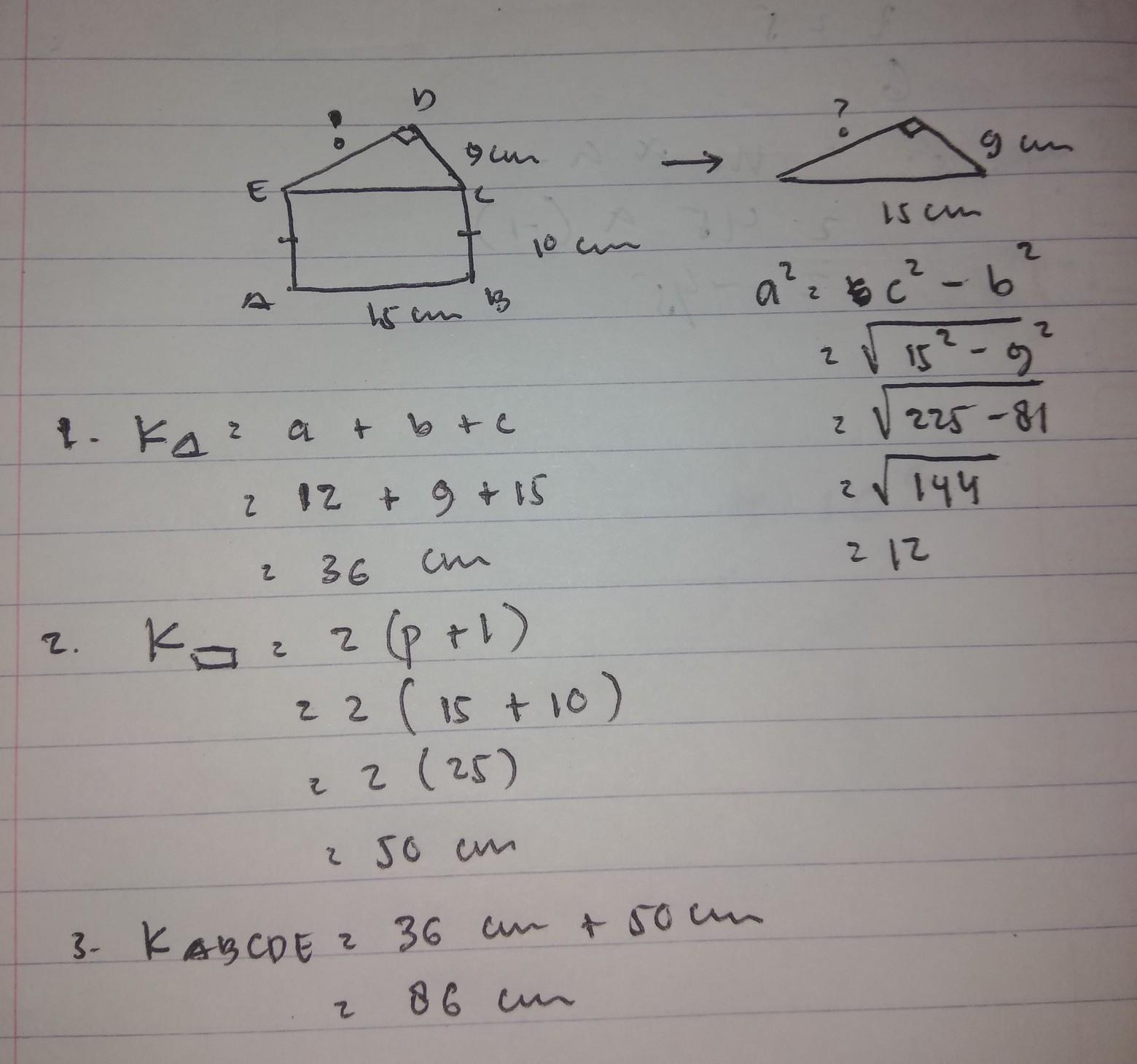 perhatikan gambar di bawah ini! dengan menggunakan teorema ...