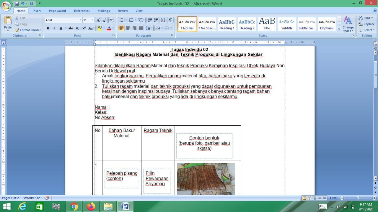 Tugas Individu 02 Identikasi Ragam Material Dan Teknik Produksi Di Lingkungan Sekitar Silahkan Brainly Co Id