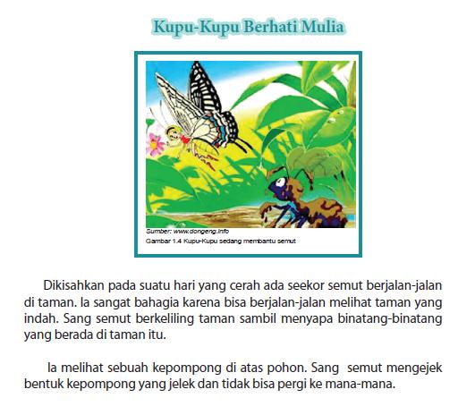 Bantu Yaa Di Suruh Buat Cerita Fabel Tentang Semut Dan Kupu Kupu