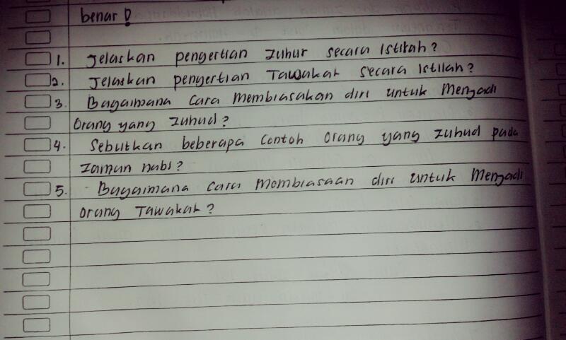 Sbutkan Bberapa Contoh Orang Yg Zuhud Pda Zman Nabi No 4 Brainly