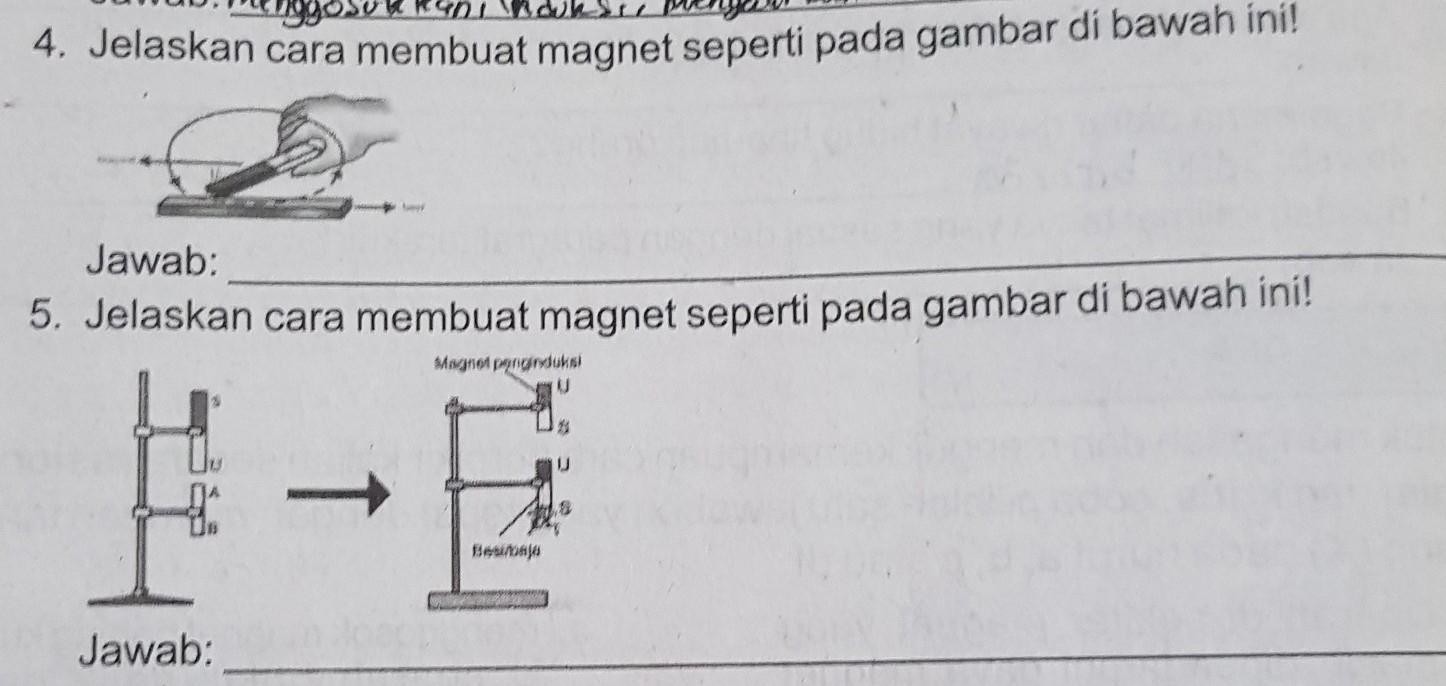 4 Jelaskan Cara Membuat Magnet Seperti Pada Gambar Dibawah Ini 5 Jelaskan Cara Membuat Magnet Brainly Co Id