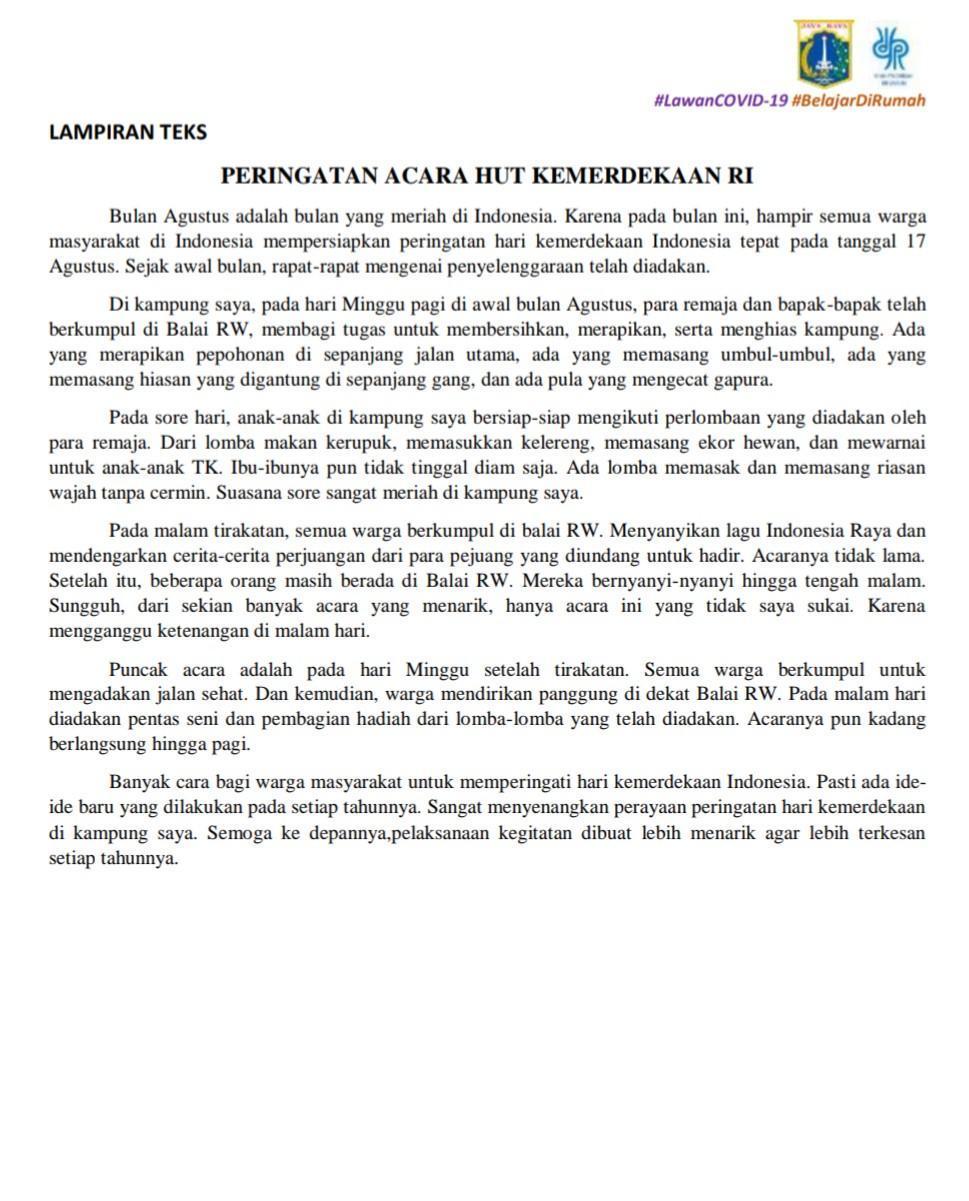 Karangan Tentang Hari Kemerdekaan 17 Agustus
