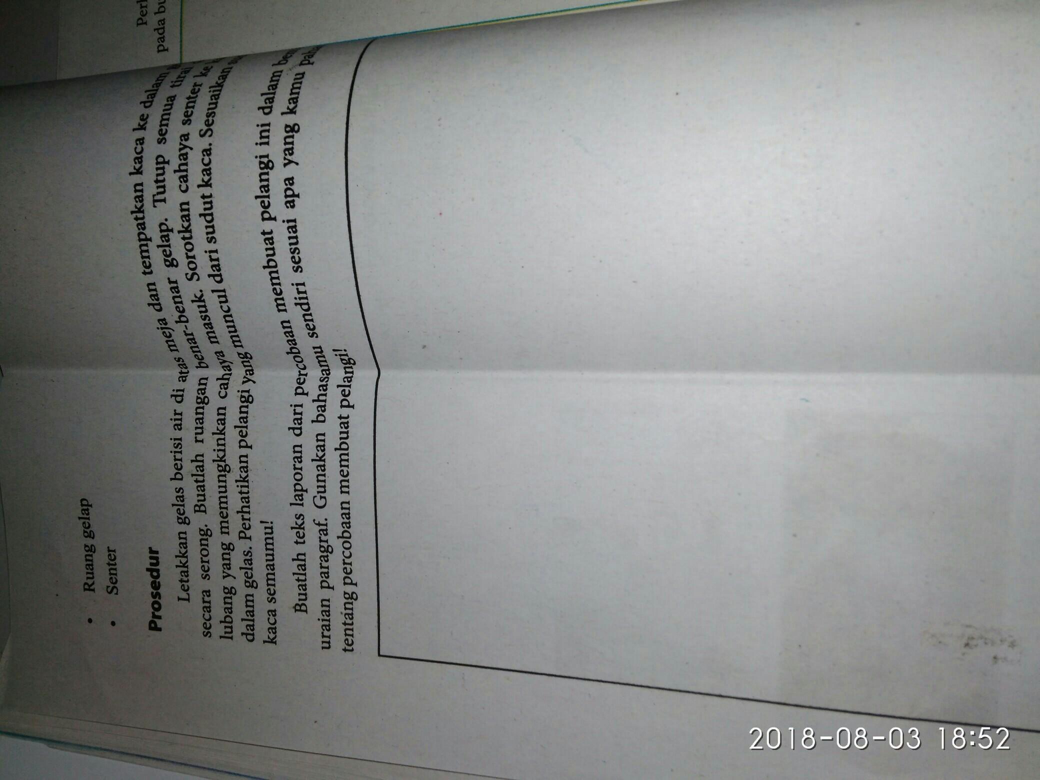 Buatlah Teks Laporan Dari Percobaan Membuat Pelangi Ini Dalam Bentuk Uraian Paragraf Gunakan Brainly Co Id