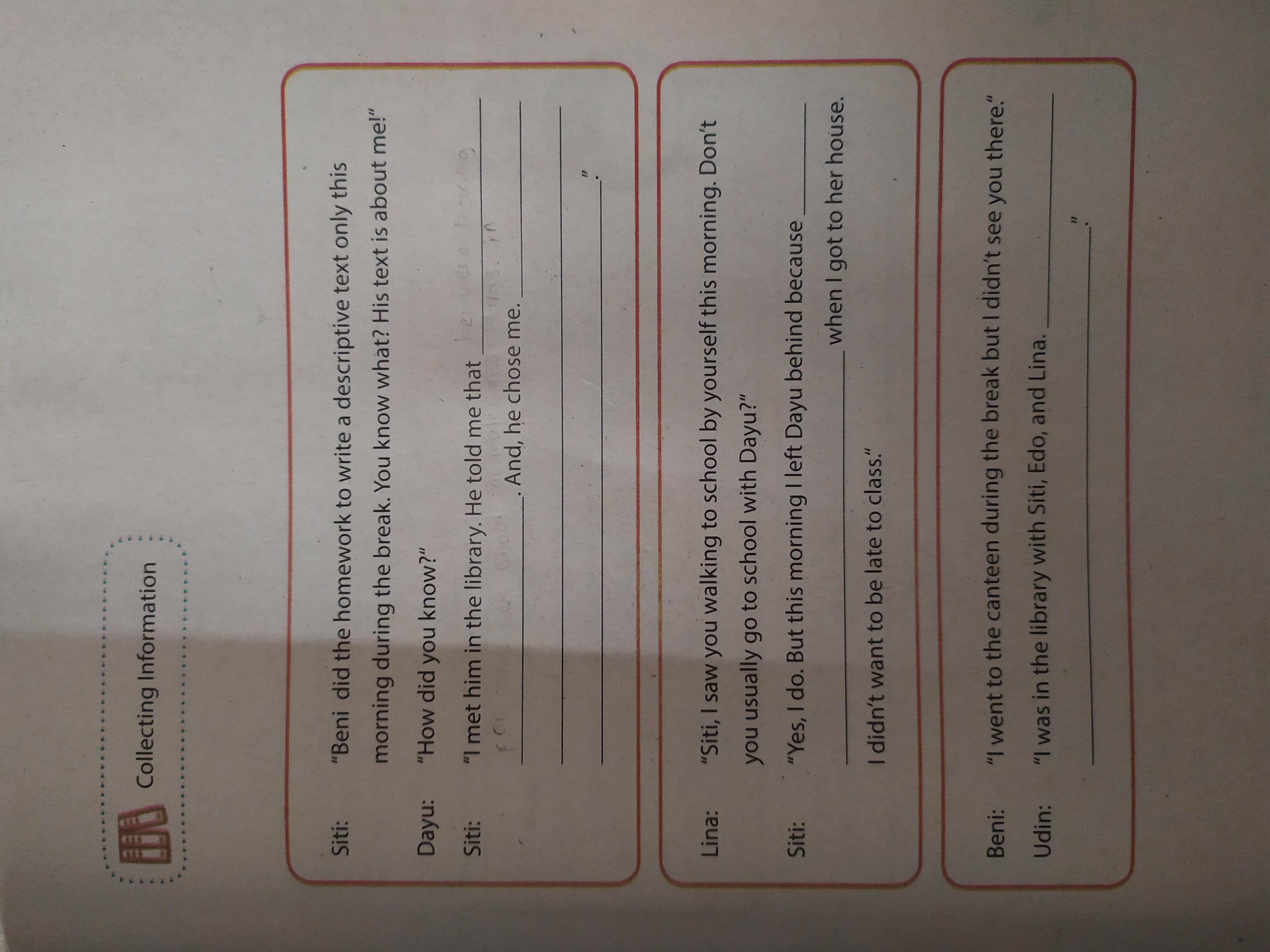 Tolong Bantu Kerjakan B Inggris Kelas 9 Hal 93 Sesuai Dengan Gambar Situasi Di Halaman Yang Pernah Brainly Co Id