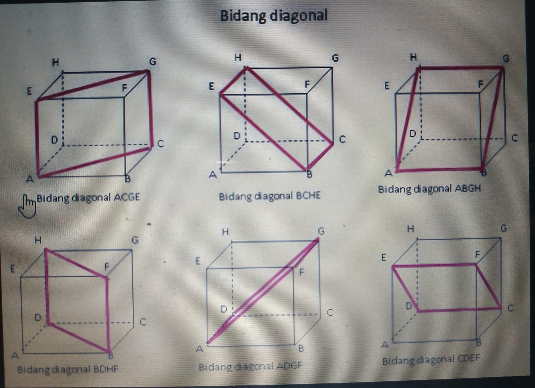 Banyak Bidang Diagonal Pada Kubus Adalah A 4 B 6c 8 D 12 Dibikin Cara Nya Jangan Sampai Brainly Co Id