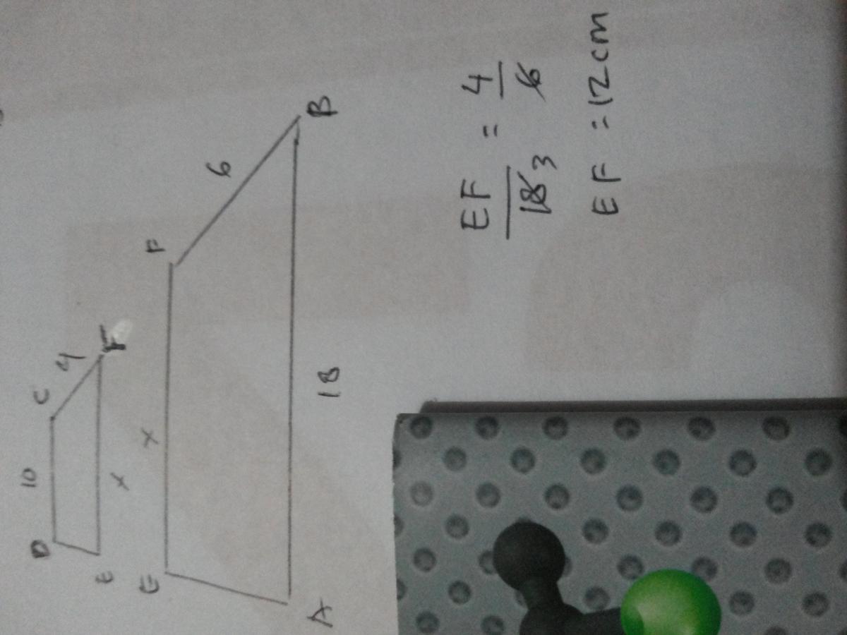 perhatikan gambar di bawah ini. hitunglah panjang ef jika ...