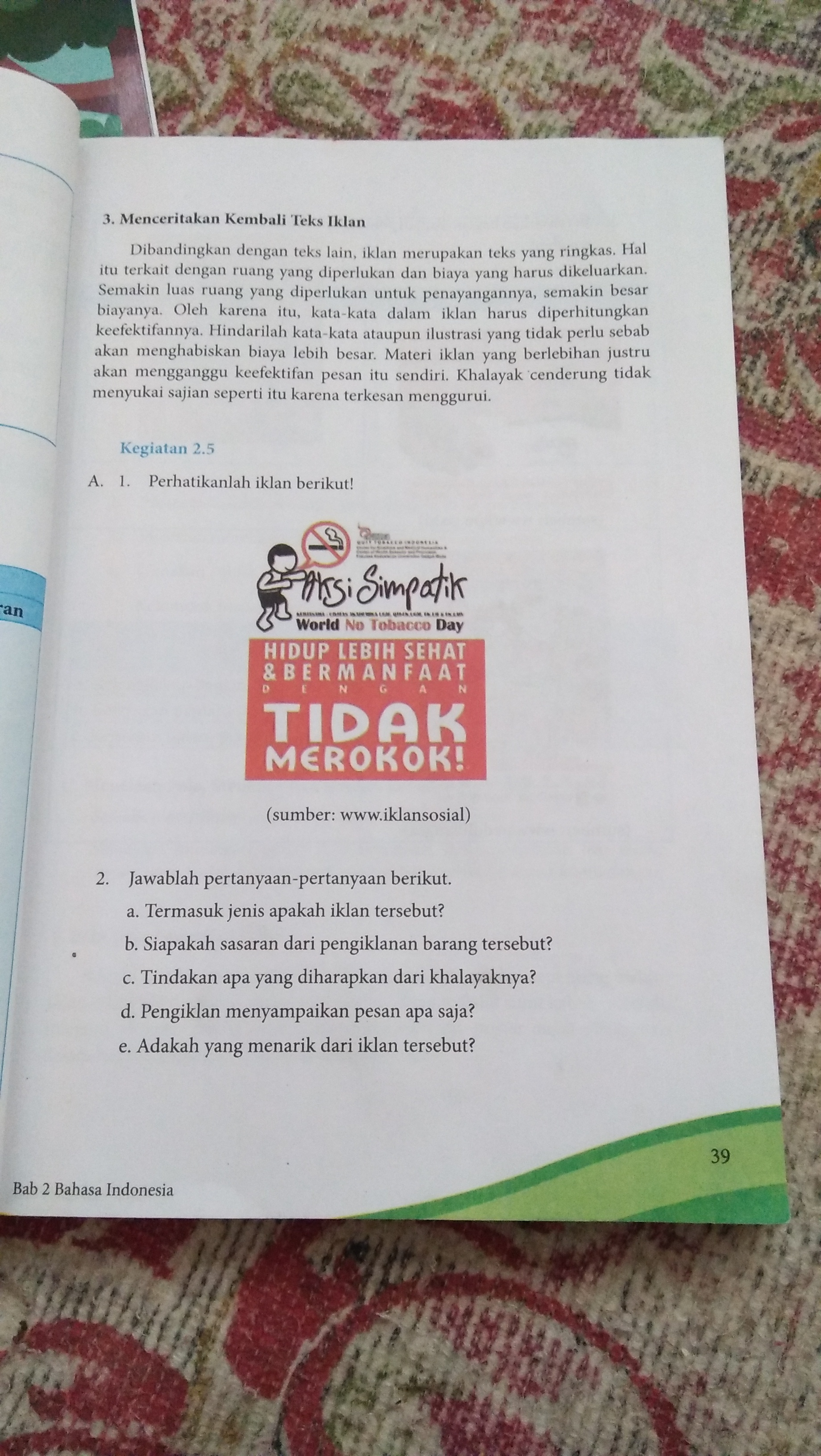 Jawaban Tugas Paket Bahasa Indonesia Kelas 11 Kurikulum 2013 Hal 153