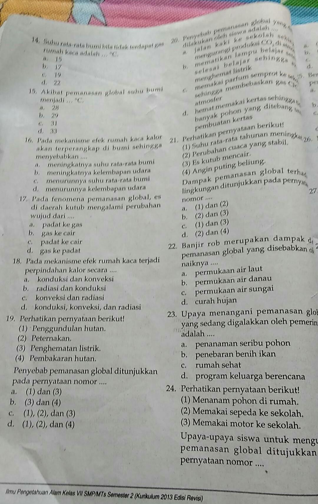 tolong jawab no 14 sampai 23 - Brainly co id