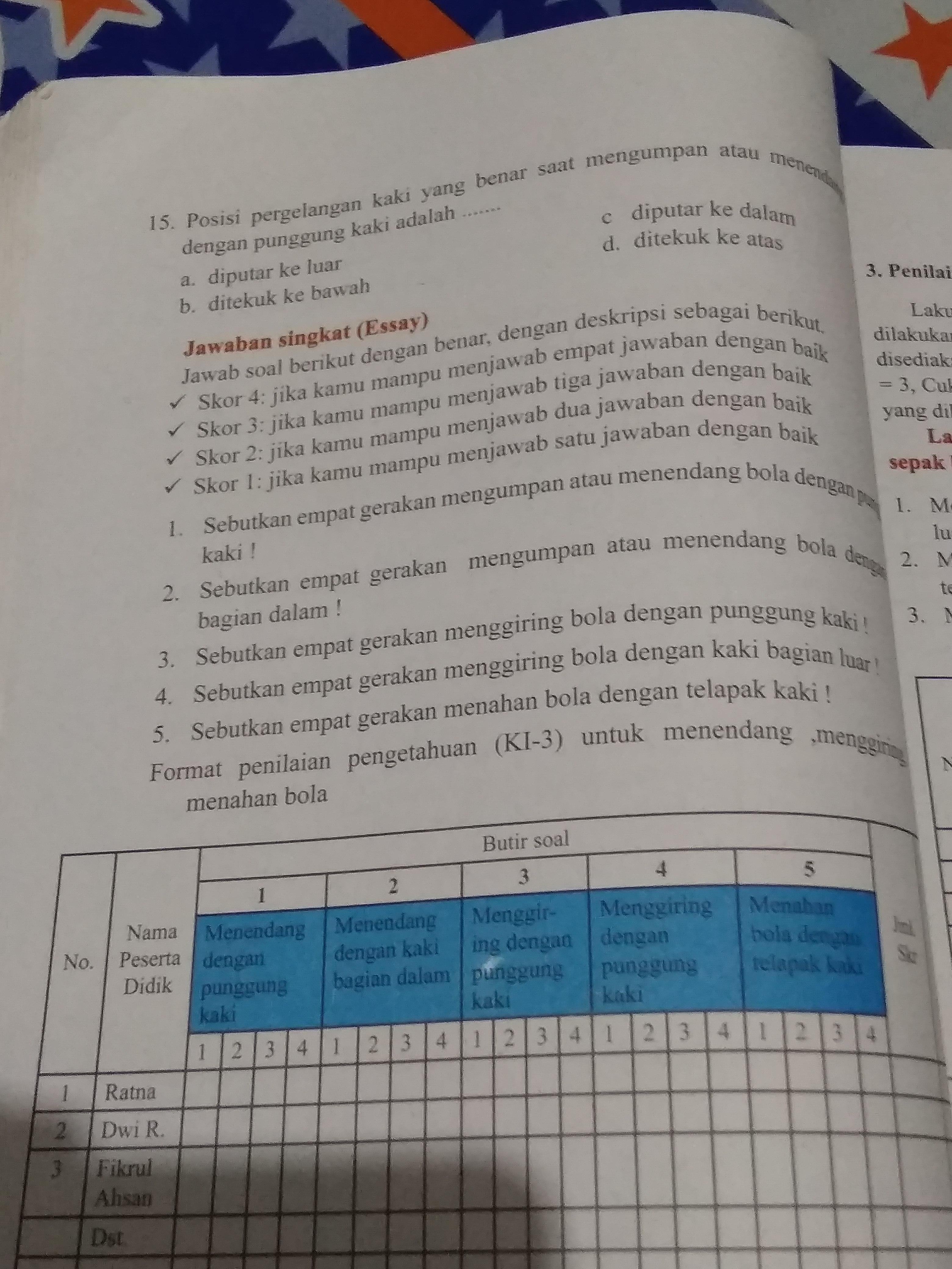 Kunci Jawaban Pjok Kelas 8 Hal 69 Guru Galeri