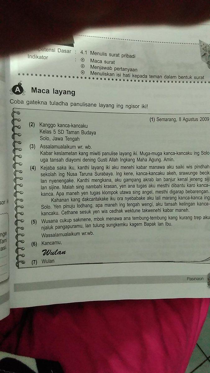 Contoh Surat Dalam Bahasa Jawa Untuk Sahabat Brainly Co Id
