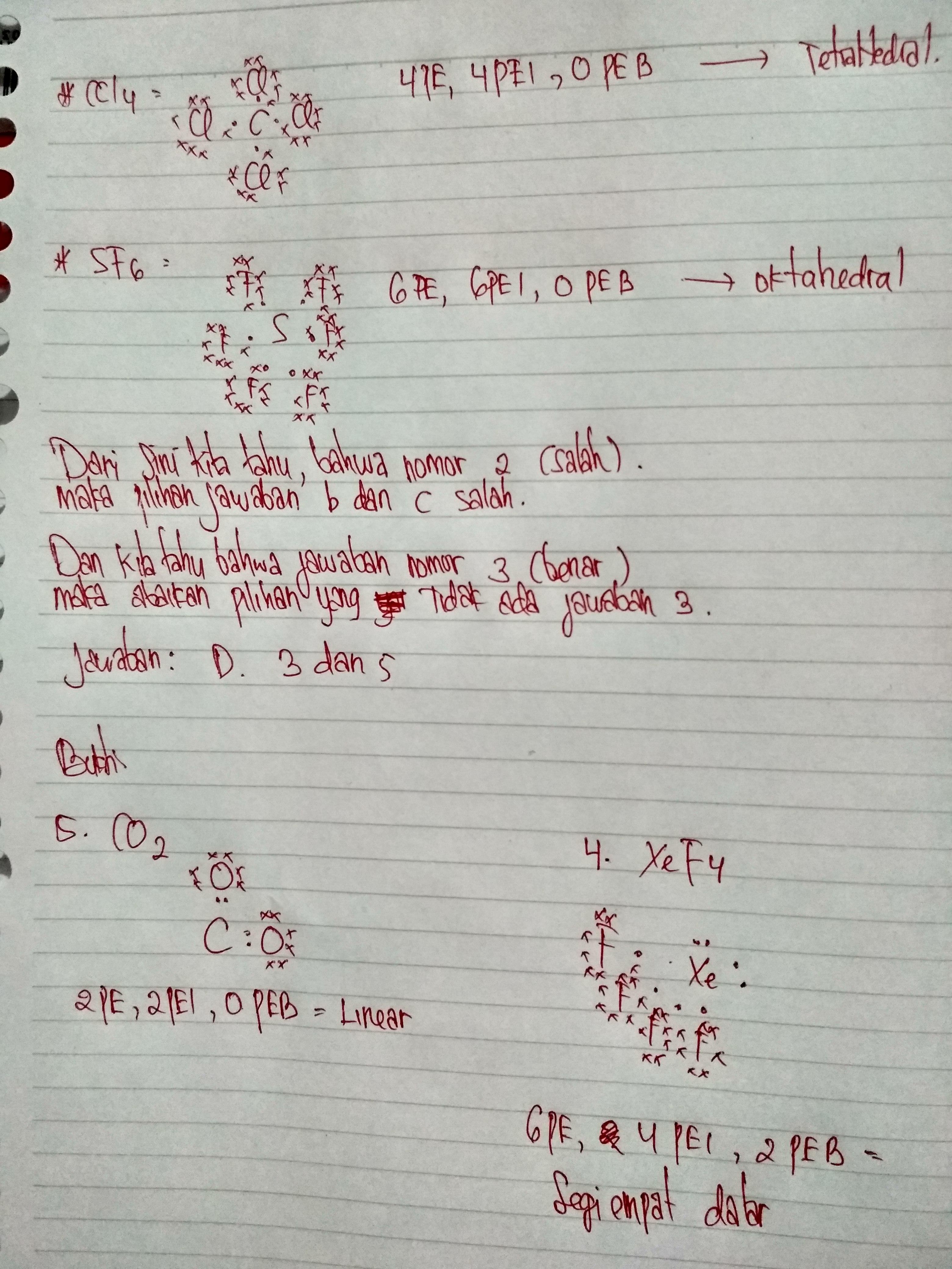 1 Senyawa Kovalen H2o Memiliki Bentuk Molekul Bengkok 2 Ccl4 Memiliki Bentuk Molekul Brainly Co Id
