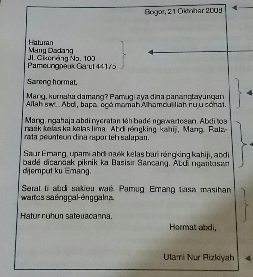 Buat Contoh Surat Resmi Dalam Bahasa Sunda Brainlycoid