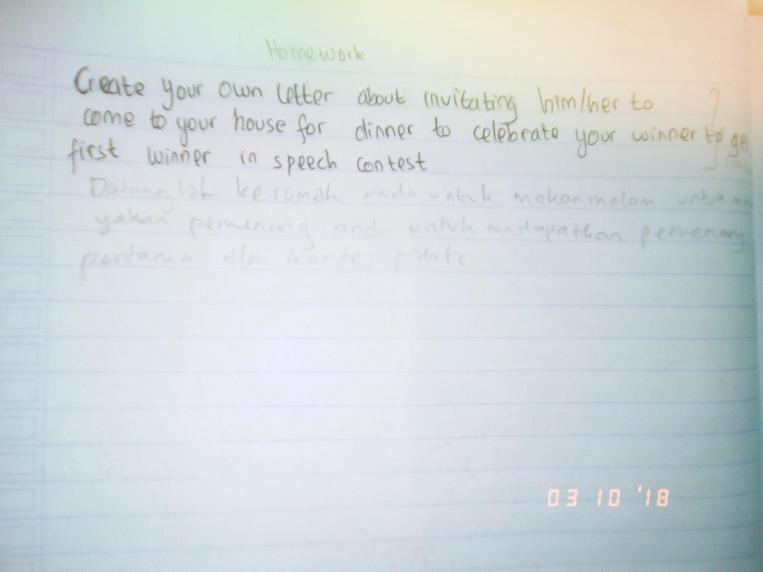 Surat Pribadi Dalam Bhs Inggris Brainlycoid