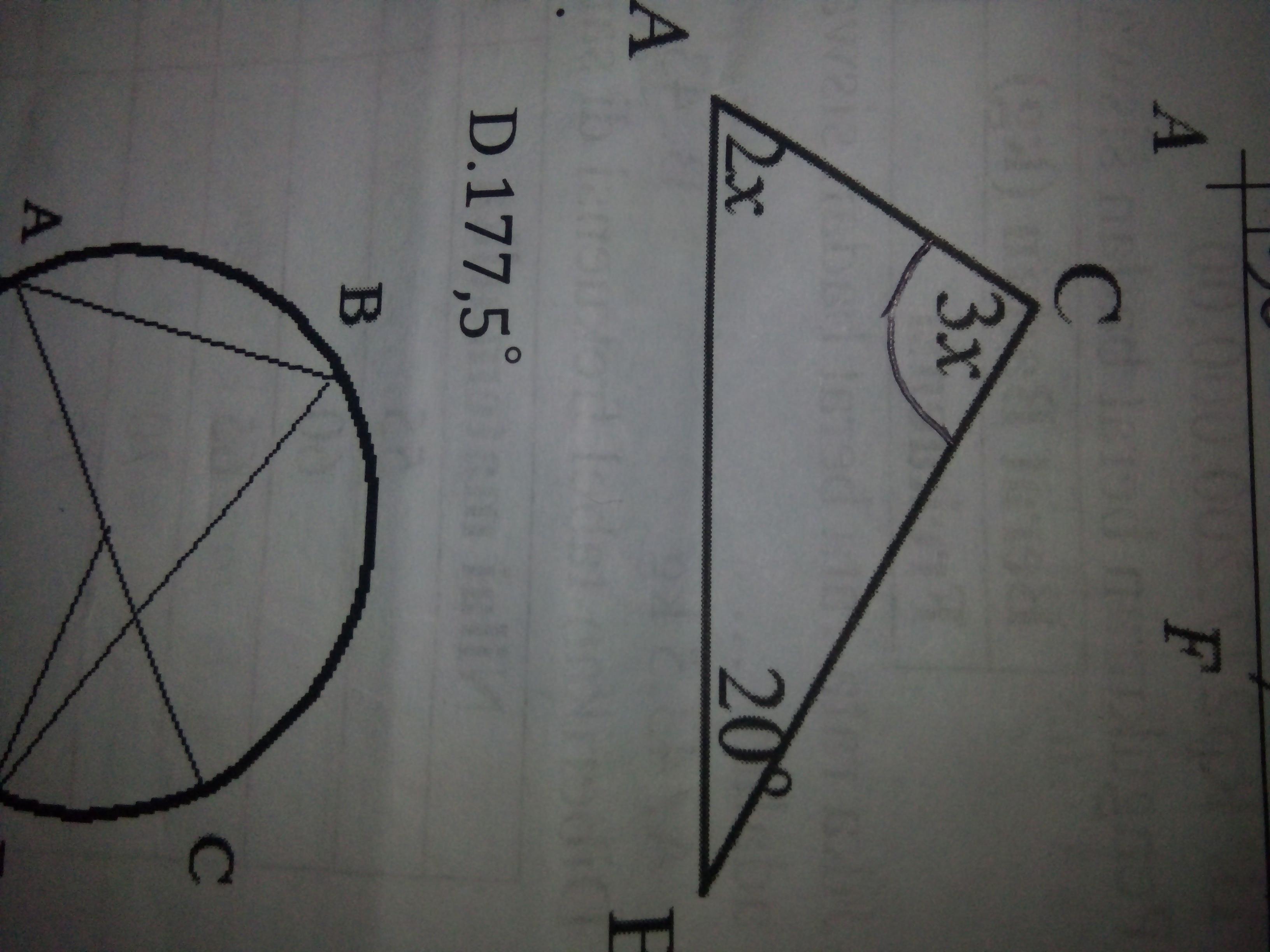 Perhatikan gambar dibawah ini. Besar sudut C adalah ...