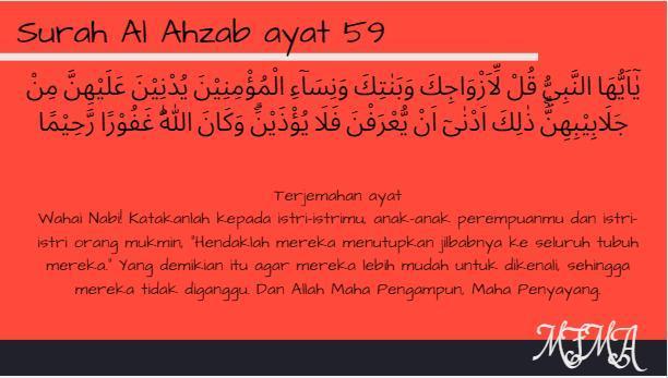 Surah Al Ahzab Ayat 59 Bahsa Latin Dan Artinya Brainlycoid