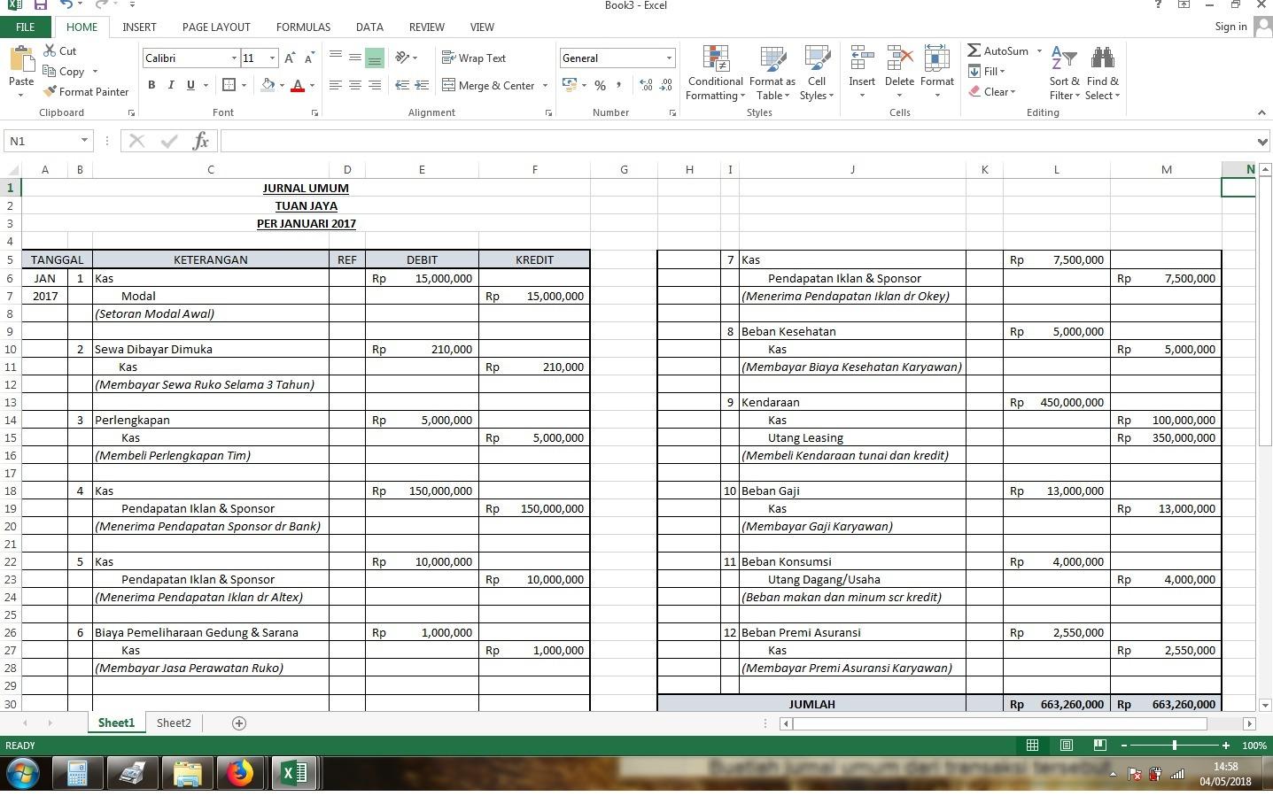 Tanggal Transaksi Januari 2017 1 Tuan Jaya Menyetorkan Dana Tunai Sebesar Rp 15 000 000 Sebagai Brainly Co Id
