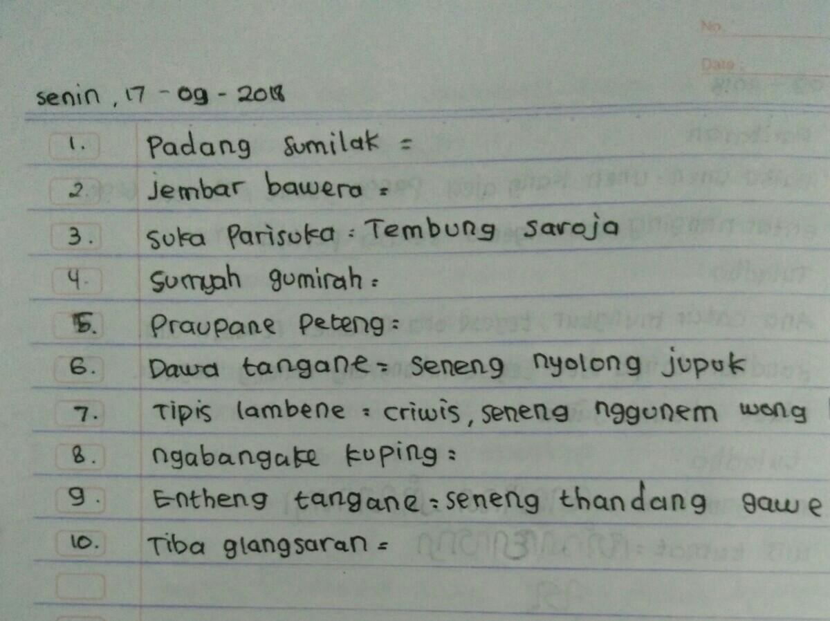Tolong Kak Dijawab Ya Ini Pelajaran Bahasa Jawa Kelas 5 Brainly Co Id