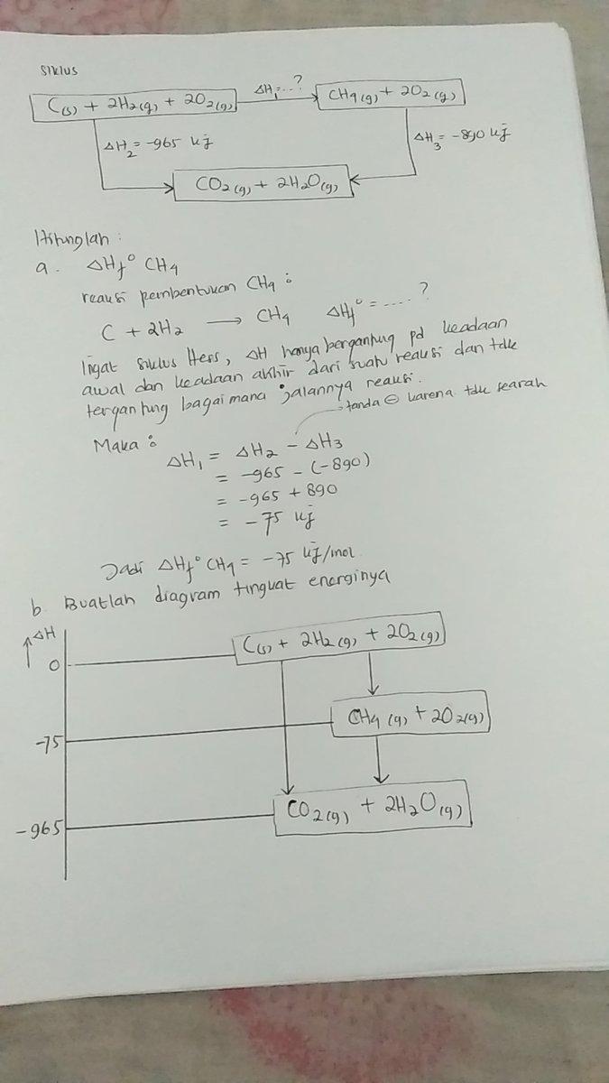 Diketahui diagram siklus energi sebagai berikut cs 2h2g 2o2 unduh jpg ccuart Gallery