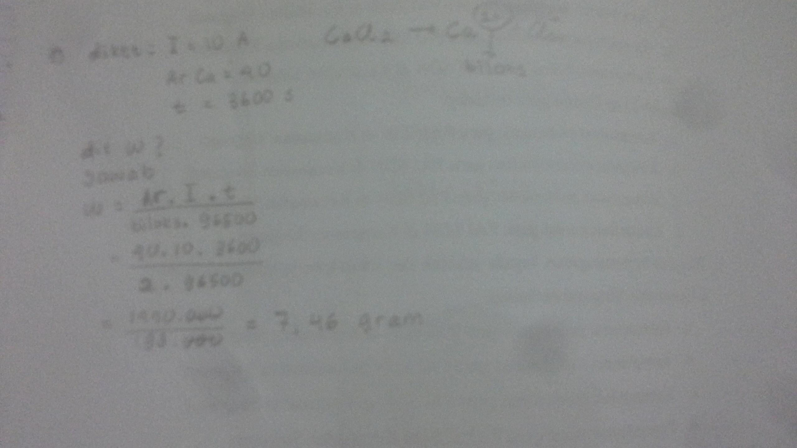 Berapa gram Kalsium yang dapat dihasilkan dari ...