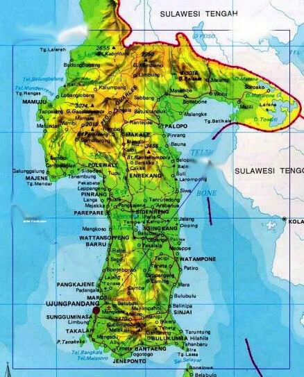 Gambar Peta Sulawesi Selatan Brainly Id Wwwgambar