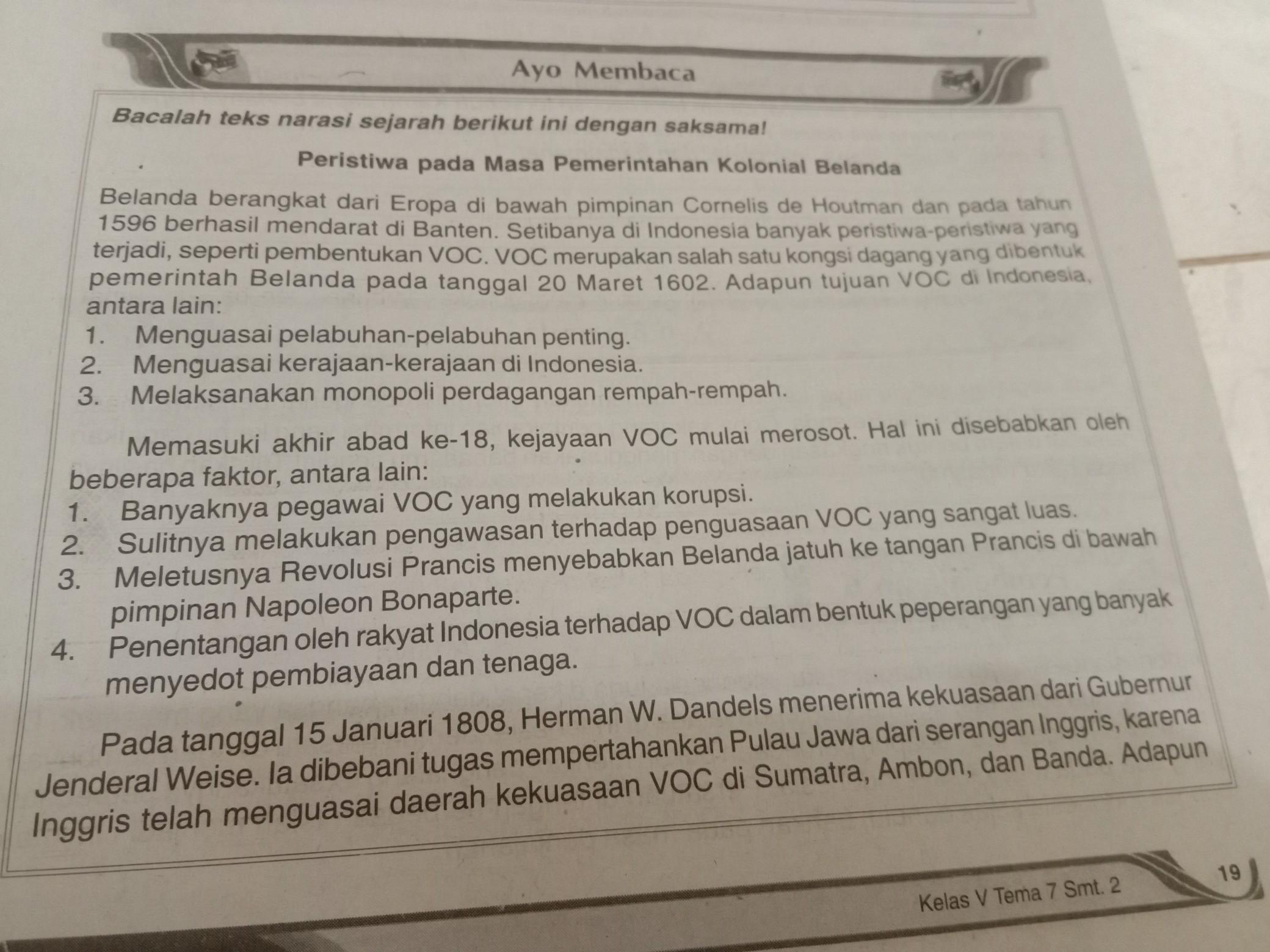 Sejarah Pembentukan Voc - Tujuan Voc Didirikan Di ...